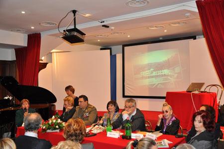 Lorena Fiorini al Circolo delle Forze Armate d'Italia