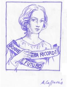 """la """"donna senza tempo"""" di antonella cappuccio, logo del premio"""