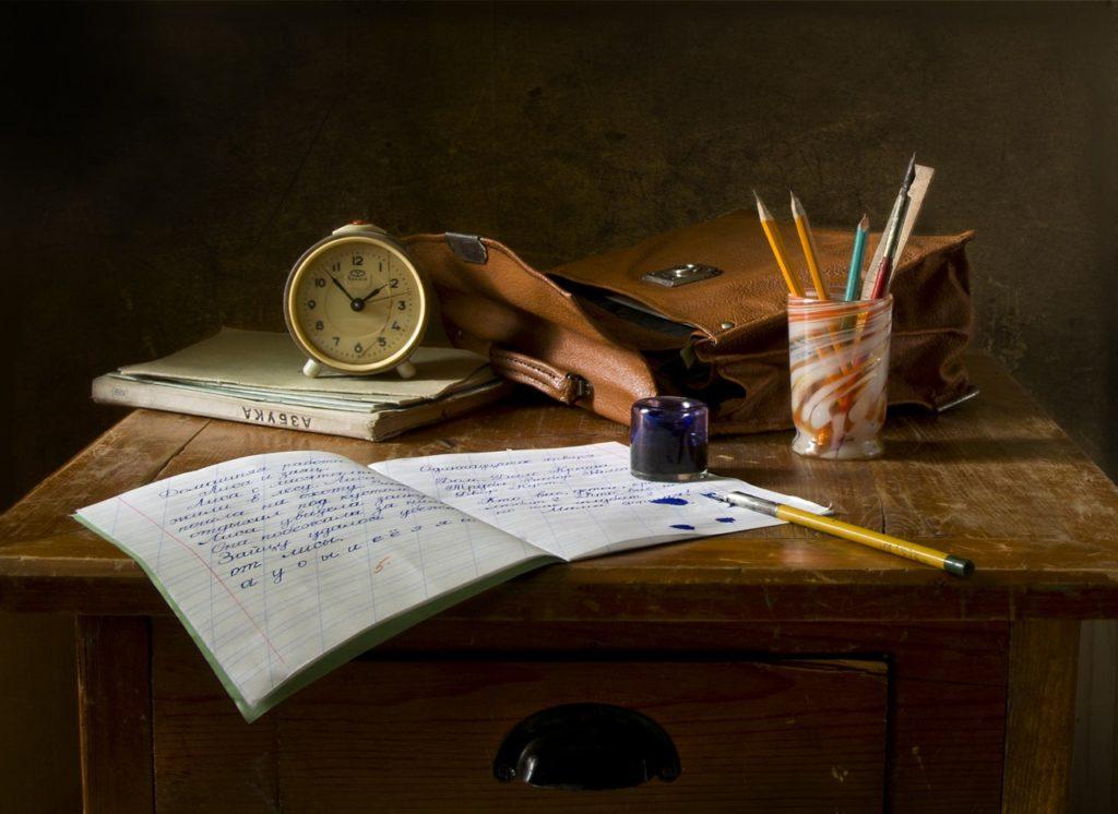 la scrivania dello scrittore