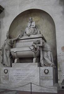 Dante e il cenotafio in Santa Croce